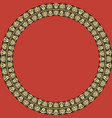 round frame with greek palmetta ornament vector image vector image