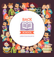 school people characters various cartoon vector image vector image