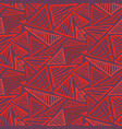 seamless pattern with bright red triangles vector image