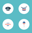 set of history icons flat style symbols with drum vector image