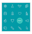 Set of Medical Hospital Elements can be used as vector image vector image