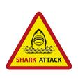 shark on waves vector image