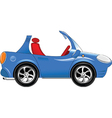 Small blue car vector image