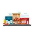 store facade in the down town vector image vector image