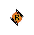 technology letter r vector image vector image