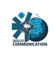 telecommunication satellite icon space station vector image