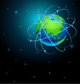 Transportation Earth in space vector image vector image