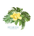 tropic leaves composition vector image vector image