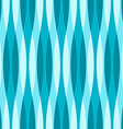 Turquoise Blue and White Wavy Background vector image vector image