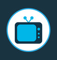 tv icon colored symbol premium quality isolated vector image vector image