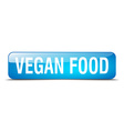 vegan food blue square 3d realistic isolated web vector image vector image