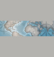 world map horizontal banner retro vintage style of vector image