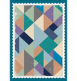 Post stamp vector image