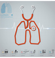Lungs Shape Stethoscope Health And Medical vector image