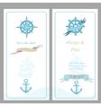 Wedding invitation template nautical style vector image