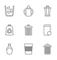 9 recycle icons vector image vector image