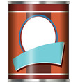 aluminum can with brown label vector image vector image