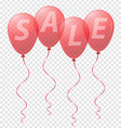 balloons sale 01 vector image vector image