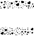 black hearts on white background vector image vector image