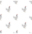 chicken triangle shape seamless pattern background vector image