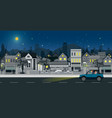 city night scene vector image