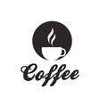 coffee cup of coffee white background image vector image vector image