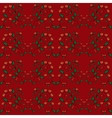 Cranberry currant red berries seamless pattern vector image