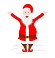 crazy santa claus shows his tongue and raised vector image