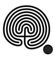 crete traditional symbol cretan labyrinth of vector image vector image