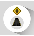 crossroad sign concept graphic vector image