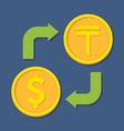 Currency exchange Dollar and Tenge vector image vector image
