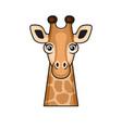 cute giraffe face cartoon style on white vector image