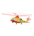 cute yellow funny helicopter cartoon character vector image vector image