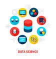 data science concept icons vector image