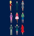 diverse set of cartoon people men and women vector image vector image