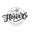 flowers delivery company logotype template vector image