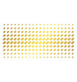 free tag golden halftone grid vector image