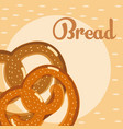 fresh and delicious bread vector image vector image