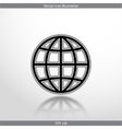 globe web flat icon vector image vector image