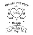 hand draw card for father day vector image vector image