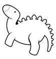 isolated cute dinosaur cartoon character vector image vector image