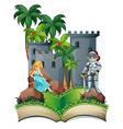 Knight and princess vector image vector image