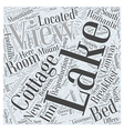 Lake View Cottage Word Cloud Concept vector image vector image