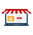 laptop with screen buy vector image