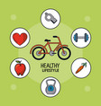 light green poster of healthy lifestyle with vector image vector image