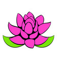 lotus flower icon cartoon vector image vector image
