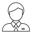man business avatar icon outline style