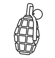 military contour grenade vector image vector image