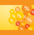 orange mark percent discount summer offer vector image vector image