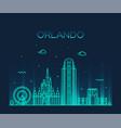 orlando skyline florida usa linear style vector image vector image